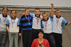 2015 apr. Mini N6.2, kampioen; Tr. Ina Wesselink. vlnr Kirsten Scholtens, Tessa Klein, Jorn Venhuizen, Auke Brink, Menno Lamberink, Stijn Martens