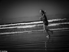 beach life - in the zone (4tun8bug) Tags: ocean sea music sun beach sand surf waves exercise streetphotography running run panasonic pacificocean runner earphones clearsky beautifulday inthezone lx100