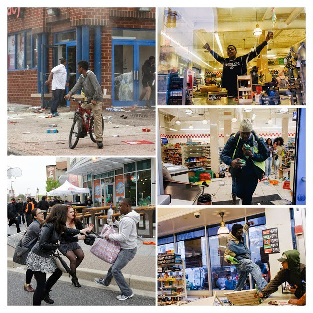 In #baltimore #blacklivesmatter is not true, #looting and #rioting matters! Dont go there on vacation
