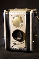 KODAK DUAFLEX (Anna-Phillips) Tags: pictures camera old blackandwhite stilllife brown black color macro classic film closeup vintage studio lens photography photo aperture focus exposure technology view shot symbol antique decorative quality grunge traditional rustic memories large culture photographic hobby dirty retro used professional equipment photograph frame shutter medium format aged past brass isolated symbolic obsolete oldfashioned viewfinder outdated revival antiquecamera kodakduaflex americancamera