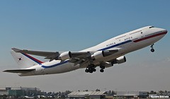Boeing 747-4B5 / Korean Government / HL7465 (10001) (Vicente Quezada /// Photography) Tags: force air korea off korean vip take government boeing 747 b747 scl 744 10001 b744 scel hl7465
