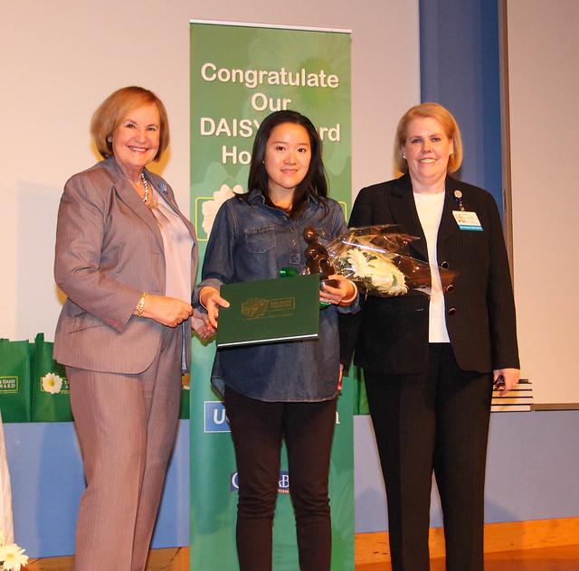(left) Heidi Crooks, R.N., M.A.; Jan Cheung, BSN, RN; Pat Matos, DNP, RN, NEA-BC