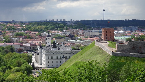Vilnius, Lithuanian Royal Palace and Gedeminas Hill from Three Crosses [14.05.2015]