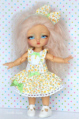 Sunflowers (Citrouille Sucre) Tags: cute doll handmade crafts kawaii bjd luts fairyland handmadeclothes handmadefashion bjdfashion bjdclothes bjdsale pukifee tinydelf