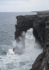 Kersplash (KGHofSF) Tags: ocean sea nature rain clouds photography hawaii lava photo nationalpark waves pacific cliffs column bigisland volcanoes splash eruptions southshore kgh hawaiivolcanoes seacsape