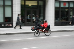 Courier (Flint Foto Factory) Tags: street city morning school urban chicago motion bike bicycle moving illinois am spring downtown loop may jackson pedestrians intersection law rushhour 18 statest johnmarshall 2015 memorialdayweekend plymouthct wjacksonblvd