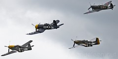 Unique Diamond Formation (rudyvandeleemput) Tags: tom airplane unique aircraft diamond formation airshow corsair spitfire mustang warbird p51d meulen oostwold