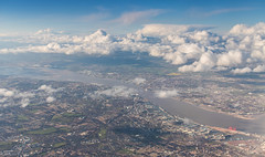 The River Mersey (Rob Pitt) Tags: from above up clouds liverpool river high looking down aeroplane mersey arial wirral newbrighton eastham the