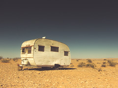 pearls and oyster shells (Jo-H) Tags: vintage solitude alone desert trailer overtonnevada