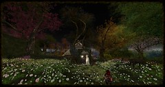 Near Moonflower Cottage (Ima Peccable) Tags: trees scenery secondlife wildflowers shire hobbitsecondliferegiontheshiresecondlifeparceltheshireahomelysliceofmiddleearthsecondlifex221secondlifey182secondlifez14