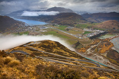 A Remarkable View || QUEENSTOWN || NEW ZEALAND (rhyspope) Tags: road new cloud mist mountain pope weather fog canon island airport view south zealand nz vista queenstown 5d remarkables rhys hairpin mkii rhyspope frackton