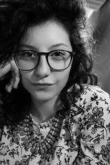 Sicurezza (bauscia99) Tags: portrait blackandwhite bw glass girl smile eyes occhi sorriso ritratto calabria biancoenero primopiano ragazza occhiali gioiatauro fotoamatori fotoamatorigioiesi