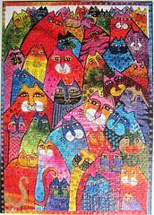 Fantastici Felini (Laurel Burch) (Leonisha) Tags: cats chat colorful puzzle katze bunt jigsawpuzzle