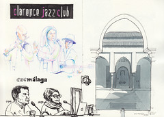Clarence Jazz Club / CAC / Alcazaba (Flaf) Tags: colour water pen ink point drawing sketching florian omar malaga jaramillo alcazaba freie serrano inma flaf afflerbach zeichnerei malagrafica