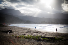 such a beauty.. (paul.wienerroither) Tags: ocean travel light sea beach nature water clouds canon landscape photography 50mm lights hawaii bay paradise mood view peaceful lensflare kauai hi sunrays hanalei lightrays natureshots oceanlove 5dmk3