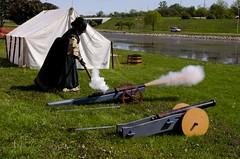 Opening cannons (Pahz) Tags: fire photography cannon renfaire renaissancefaire renfest musket janesvillewi traxlerpark janesvillerenaissancefaire nikond5100 gsmbristol pattysmithjrf