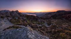 Stepping Stones (J McSporran) Tags: sunset scotland trossachs benaan