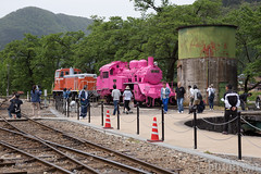 Pink SL at Wakasa Railway (6) (double-h) Tags: sl tottori jnr steamlocomotive c12   eos6d  ef2470mmf4lisusm  pinksl wakasarailway  c12 c12167 wakasastation classc12 c12 sl