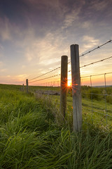 Sunset Croft Hill (John__Hull) Tags: uk sunset summer england sun nature fence wire nikon leicestershire hill sigma filter croft nd flare sunburst barb 1020mm grad setting d3200