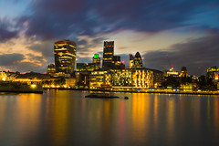 London sunset.... #tower bridge (dtapkir) Tags: uk blue sunset summer england sky sunlight reflection building london water colors yellow architecture clouds lights movement nikon cityscape d750 goldenhour 1835 nikond750