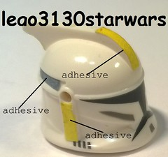 lego star wars yellow clones custom lego3130starwars helmet (lego3130starwars) Tags: yellow star lego helmet clones wars custom lego3130starwars