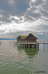lake dwelling during bronze and stone age (greg luengen) Tags: lake man museum see wooden ancient prehistoric konstanz constance