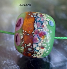 Geneva (Laura Blanck Openstudio) Tags: show blue roof etched usa abstract brick green art glass festival necklace beads big colorful warm published artist european glow purple handmade eggplant fine arts violet lavender sienna funky jewelry charm holes made odd caramel lilac honey earthy single donut round winner huge opaque bead mustard organic kiln murano grape lampwork multicolor raku artisan pendant suede matte whimsical frosted frit openstudio asymmetric ocher focal speckles annealed openstudiobeads