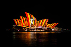 Songlines on the Opera House (robertdownie) Tags: new light house male wales opera day south sydney sails vivid australia islander projection national nsw hunter aboriginal committee spear naidoc songlines observance