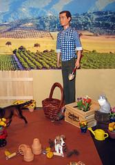 Ken in the garden (jarmie52) Tags: miniatures ken barbie rement diorama