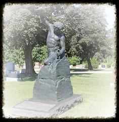 The Self Made Man,from the block of stone I craved a likeness like no other. (Bruce Zbigniew Nuckowski) Tags: monument statue memorial