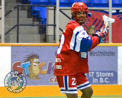 New Westminster Salmonbellies  Jeff Cornwall warmup (Pucked in the Head) Tags: newwestminstersalmonbellies salmonbellies newwestminster newwest coquitlamadanacs coquitlam adanacs wla wlalacrosse lacrosse westernlacrosseleague boxlacrosse jasonkurylo kurylo puckedinthehead wwwpuckedintheheadcom royalcity