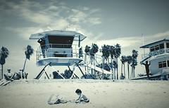 Life's a beach (nadeleon) Tags: california beach 35mm lifeguard socal fujifilm danapoint lifeguardtower dohenystatebeach xt10