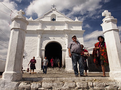 White church (BenoitDemers) Tags: white latin entrance church tourism america building travel architecture door sky outdoor religion tower blue holiday old american historic christian colonial christianity monument religious plaza catholicism catholic mexican faith step bright cross historical typical chapel place people ornaments chichicastenango guatemala