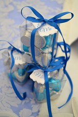 Sweet box favours (Kennet House Cakes) Tags: blue wedding silver sweets boxed macaron favour