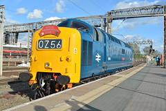 05-07-16 BR Blue D9009 - Crewe (Lukas66538) Tags: bridge blue green br class crewe 40 55 grosmont alycidon gresty d213 d9009 andania 0z56