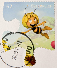 great stamp Austria € 0.62 Maya the Honey Bee (Biene Maja, みつばちマーヤの冒険, Včielka Maja, La abeja Maya, L'ape Maia, Pszczółka Maja, Μάγια η Μέλισσα, Abelha Maia, Maya l'abeille, Včelka Mája, Maja, a méhecske) timbre Autriche sellos Austria selos porto franco (stampolina, thx ! :)) Tags: anime postes austria oostenrijk österreich comic maya stamps maja bee porto postage postzegel franco autriche biene sellos briefmarken markas pulu selos timbres bienemaja francobolli zegels timbresposte znaczki abelhamaia waldemarbonsels frimerker frimaerke sellodecorreo mayalabeille laabejamaya pulları timbru pszczółkamaja みつばちマーヤの冒険 včielkamaja แสตมป์ lapemaia postapulu postestimbres selodecorreio antspaudai znamk mayathehoneybee μάγιαημέλισσα včelkamája majaaméhecske