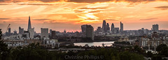 Second most beautiful sunset I had ever seen in London (Christine's Observations) Tags: london greenwich hill sunset skyline magic epic beautiful pure gold stunning christine phillips