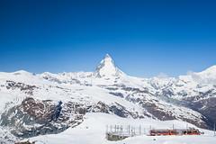 Matterhorn peak view and Gornergrat Bahn (jutoart) Tags: switzerland gornergrat zermatt matterhorn gornergratbahn