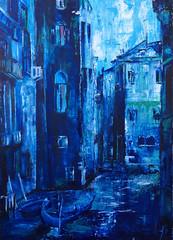Venice Composed in Blue (TheDeltaMachine) Tags: art artistic artist oil oiloilpaintingcitycitysapeurbanartartpaintingparisfrance venice
