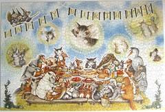 Wachifield: Happy Birthday / Dayans Geburtstagsparty (Leonisha) Tags: puzzle jigsawpuzzle wachifield dayan birthday geburtstag party cat katze tiere animals