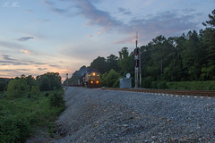CSX K289 at SE Martin Marietta (travisnewman100) Tags: csx train freight unit coke railroad locomotive ac44cw sd402 emd ge sunset control point switch siding wa subdivision atlanta division adairsville georgia