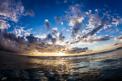 Pop (David Field (Sydney)) Tags: pop sunrise morning mirror reflection clouds sun glow light water wave surf art sea ocean beach australia newsouthwales sydney northernbeaches aquatech seascape canon nature winter pretty beautiful beauty travel