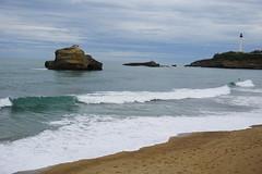 Biarritz (a.mugica13) Tags: sea sky france beach mar sand playa arena cielo nubes francia clounds biarritz zerua hondartza lainoak itsasoa hondarra aquitania frantzia