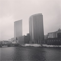 Downtown Grand Rapids on a rainy spring day (stevendepolo) Tags: skyline spring downtown day grand rapids rainy