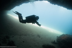 Caves/Dahab (VanessaCoronel) Tags: ocean underwater dahab diving canyon caves rebreather uwphotography tecdiving