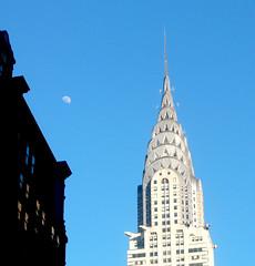 chrysler moon (K Berit) Tags: street nyc moon ny newyork window chrysler holidaysvacanzeurlaub