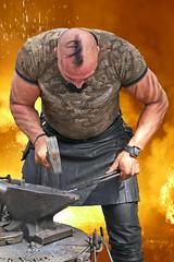 Manpower 1 (heinzkren) Tags: hammer power kunst smith montage mann feuer fotomontage ambos handycraft kraft esse handwerk glut manpower typ hitze manneskraft irokese schmied kunsthandwerk kerl muskel urgewalt mannsbild höllenfeuer gluthitze