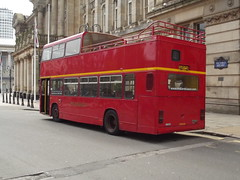 Midland Classic - red open top bus - Colmore Row (ell brown) Tags: greatbritain england bus birmingham unitedkingdom starbucks townhall westmidlands leyland victoriasquare councilhouse birminghamtownhall opentopbus edenplace alphatower birminghamcouncilhouse colmorerow midlandclassic councilhousebirmingham 125colmorerow