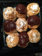 The yummiest fresh cream puffs brought home by the hb. #tnxhb for the sweet effort! (Travel Galleries) Tags: original usa coffee dessert yummy couple flavor tea sweet chocolate cream puff marriage husband fresh delicious pastry april wife gesture safeway bake delish 2015 tnxhb