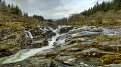 Glen Orchy Waterfall (Katybun of Beverley) Tags: longexposure landscape scotland waterfall scenery scenic westhighlands bridgeoforchy riverorchy glenorchywaterfall